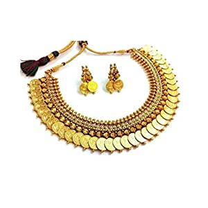 Zeneme Gold-Plated Necklace Set For Women