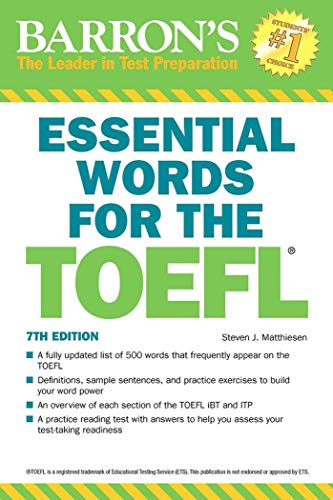 Essential Words for the TOEFL por Steven J. Matthiesen