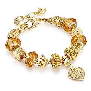 Z&YQ jewelryPer donna Braccialetti del filo Amicizia Elasticizzato Fai da te Gioielli film Gioielli di Lusso Di tendenza Placcato in oro Lega , gold , 18cm