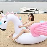 Hanmun Aufblasbare Einhorn Schwimmbad Float 2018 Sommer Neues Design sicher Material Klassischen Schwimmring für Erwachsene Frauen Kinder Kleinkinder (Riesen Einhorn)
