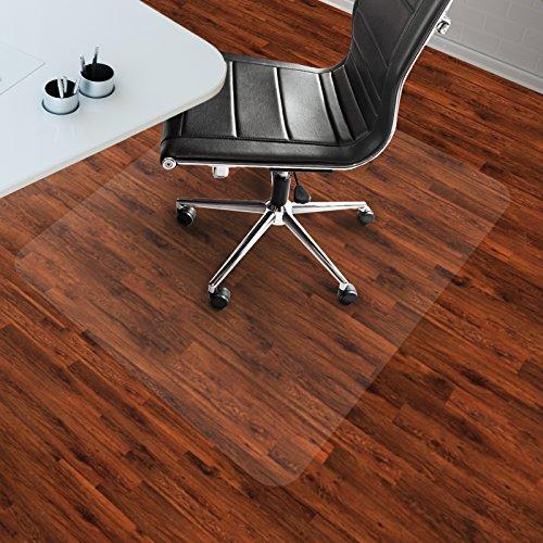 etm Bodenschutzmatte 90x120cm Hartboden | extra transparent und rutschfest | optimales Gleitverhalten für Stuhlrollen | weitere...