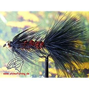 "Streamer "" Wooly Bugger Black Brown Bead Head"" 3er Set Hakengröße 8"