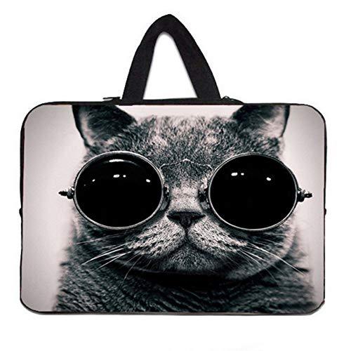 YKPBGQ Sonnenbrille Katze Laptop Sleeves Tasche 7.9 10 11.6 13.3 15 15.6 17.4