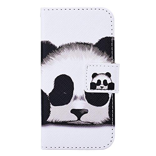 Etui Housse pour Apple iPhone 6 / iPhone 6S (4.7 pouces), HB-Int 3 en 1 PU Cuir Wallet Skin Swag Coque Case Cover Originale Motif Coque avec Lanyard Protection Protecteur D'écran Bumper Cas Shell Raba Panda