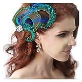 Jelinda® Femmes Pince à Cheveux en Plume de Paon pour Mariage Accessoire de cheveux