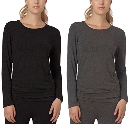 - 51zz7oCoLyL - DKNY Women's 7 Easy Pieces Long Sleeve Tee Pyjama Top