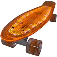 Bollinger GS-SB-X1N Penny Board con Luz, Unisex Adulto, Naranja, Talla Única