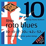 Rotosound CRS RH10 Jeu de Cordes pour Guitare Electrique Light Top/Heavy Bottom 10-13-17-30-42-52 Bleu