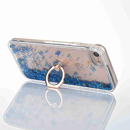iPhone se case, iPhone 55S case, Newstars iPhone se glitter trasparente duro di lusso 3D creative liquido Diamond glitter custodia per iPhone se 5S, scorre Quicksands Bling glitter Sparkle duro custo A-Diamonds Ring 1
