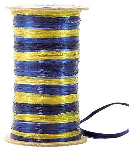 Raffia 2-Color Navy Blue & Antique Gold Twilight Combination Pearl