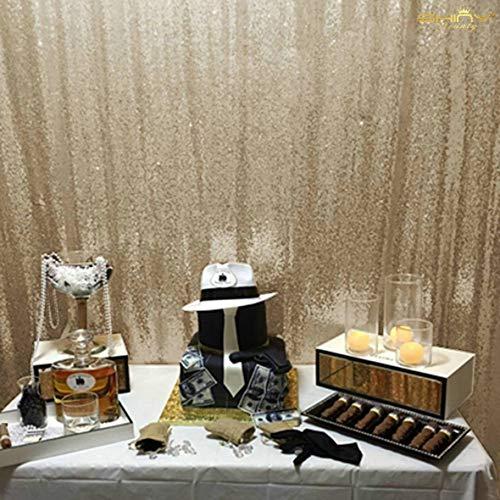 und Hochzeit Beste Wahl 125x245cm Licht Gold Pailletten Pailletten Foto Hintergrund, Photo Booth Kulisse, Fotografie Hintergrund, DIY Photobooth, Zeremonie Kulisse, eines Tages versandfertig ()