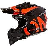 O'Neal 2Series Slick Kinder Motocross Helm Enduro MX Gelände Quad Cross Motorrad Bike Schutz, 0200-SYouth, Farbe Schwarz Orange, Größe M