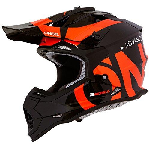 O\'Neal 2Series Slick Kinder Motocross Helm Enduro MX Gelände Quad Cross Motorrad Bike Schutz, 0200-SYouth, Farbe Schwarz Orange, Größe L