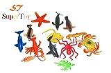 #5: SuperToy(TM) Ocean/Water/Marine Animals Figures Set for Kids Pack Of 13