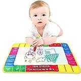 Elecenty Baby Lernspielzeug,Unisex Kinder Wasserzeichnung Gemälde Spielzeug Frühe Erziehung Kinderspielzeug Schreibmatte-Brett Magic Pen Doodle Spielzeug Geschenk (29 x 19 cm, Weiß)