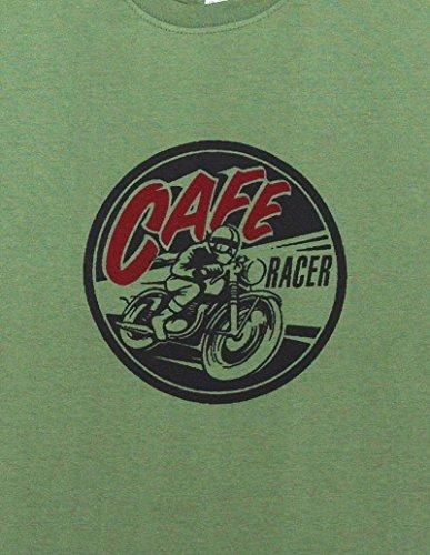 Cafe Racer Motor Cycle T-Shirt–Größe XL (44bis 116,8cm)–--- siehe bitte Unsere anderen Angebote für alle anderen Größen des dieses Shirt - Amp Motor