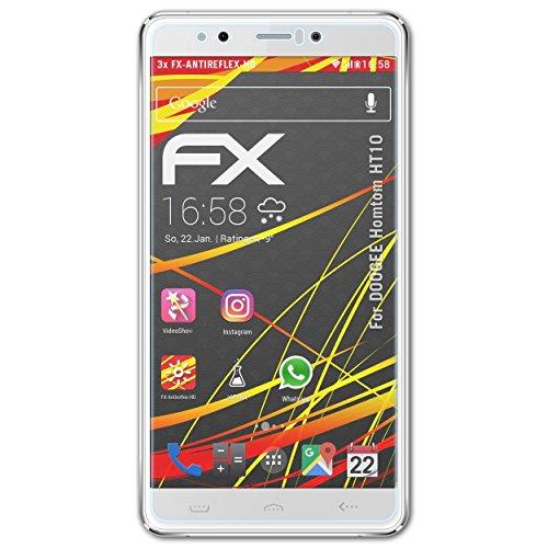atFolix Schutzfolie kompatibel mit DOOGEE Homtom HT10 Bildschirmschutzfolie, HD-Entspiegelung FX Folie (3X)