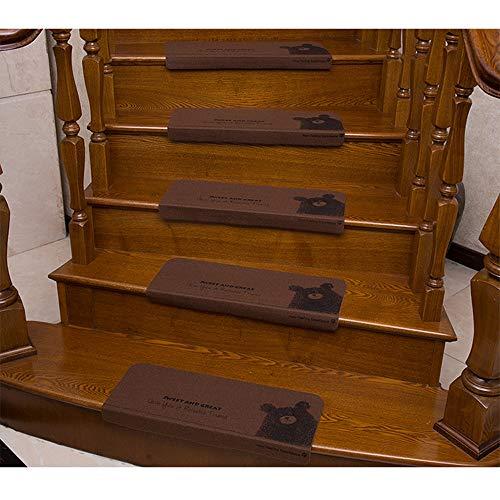 DZWLYX Treppenmatten Gummi Textilfaser - Stufenmatten,Stufenmatten Kleinformat Für Raumspartreppen/Wendeltreppen(55X20.5CM) (Color : Style 4, Size : 3 Pieces)