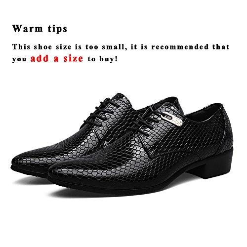 Ashion Business Lace Up Scarpe Da Uomo Classiche Scarpe Di Pizzo Nero