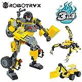 JITTERYGIT Robot Giocattolo Bambini | Set Creativo 3 in 1 | Mattoncini Costruzioni per Bambini dai 6-12 Anni | Miglior Giocattolo per Bambini | Kit Poster Gratuito Incluso