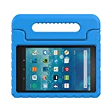 Fire 7 2015 Case,Yiqu Kiddie Series Light Weight Convertible Handle Stand Cover Shock Proof Case for Amazon Fire 7 Tablet (Fire 7' Display 5th Generation - 2015 release),Blue