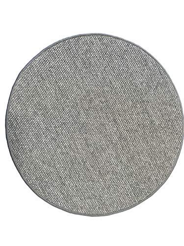 LaVelaHOME Tapis Rond 80 cm Gris Paillasson Technique Moquette