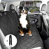 Dog Seat Cover, Distianert Waterproof Non-slip Dog Seat Cover for Cars Pet Car Seat Cover Dog Hammock with An Adjustable Pet Dog Car Seat Belt and A Carrying Bag(58''x 54''/ 147x137 cm)