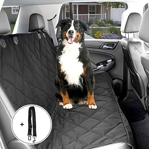Autoschondecke, Distianert Wasserdichte Anti-Rutsch- Haustier-Auto-Sitzabdeckung Hunde Hängematten mit einstellbarem Haustier Auto-Sicherheitsgurt und Tragetasche (58''x 54''/ 147x137 cm)