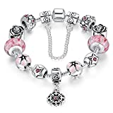 A-TE-Bracelet-Charms-Rose-Femmes-Fleur-Merveilleuse-Cadeau-JW-B107-PK
