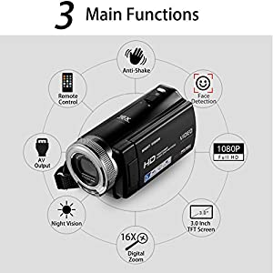 Camcorder-Full-HD-1080P-240MP-Digitalkamera