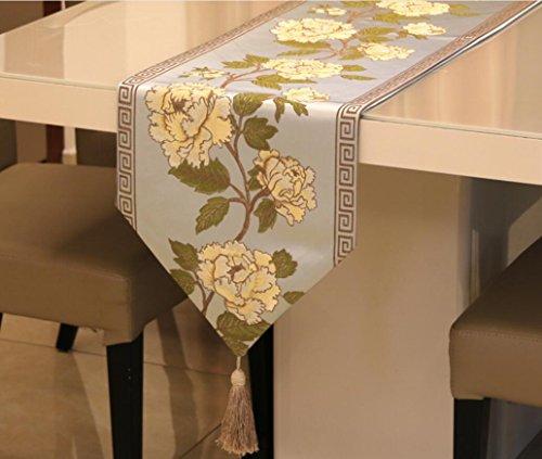 Preisvergleich Produktbild GL&G Europäische Luxus-Stickerei Mode Tischläufer Luxus klassischen weichen Tuch Stoff Geometrische Dreieck Bett Runner Haus Dekoration,A,32*180cm