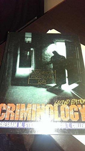 Criminology por Gresham M. Sykes