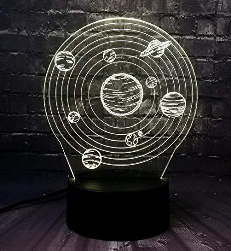 se Nine Planet Trails verschlingen 3D USB LED Lampe Acryl Touch Lights Tisch ()