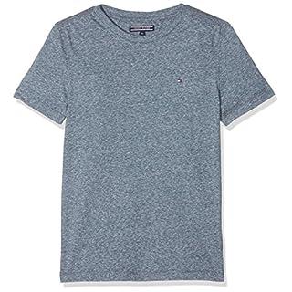 Tommy Hilfiger Jungen T-Shirt AME Triblend CN Knit S/S Schwarz (Black Iris 002) 122 (Herstellergröße: 7)