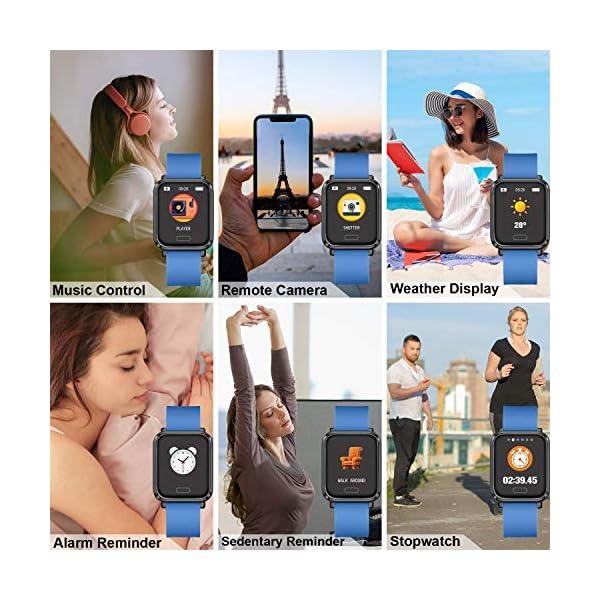 Tipmant Reloj Inteligente Mujer Hombre Smartwatch Pulsera de Actividad Inteligente Impermeable IP68 Pulsómetros… 6