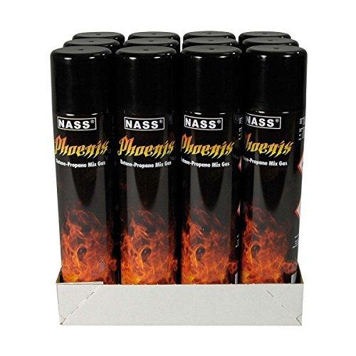 Phoenix Feuerzeuggas Butane-Propane Mix Gas 250ml 12 Dosen -
