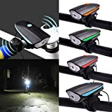 #7: Gubbarey Super Bright Waterproof Bike Bicycle New Horn and Front Light 140 DB with 3 Flash Modes : 1 Piece
