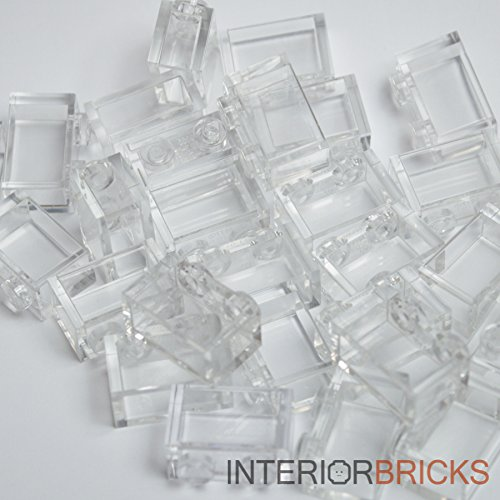 Lego Building Accessories 1 x 2 Clear Transparent Brick without Pin, Bulk - 50 Pieces per Package by LEGO