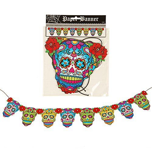 DAY OF THE DEAD Banner - Halloween Dekoration - Dios De La Muerte - Sugar Skull