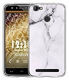 Sunrive Für HOMTOM HT50 Hülle Silikon, Handyhülle matt Schutzhülle Etui Case Backcover für HOMTOM HT50(TPU Marmor Weißer)+Gratis Universal Eingabestift