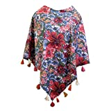 #10: Winter Creation Multi Color Cotton Poncho Tops