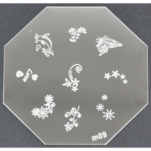 Nail Art emboutissage des tôles - M01 CODE : M09-plaque