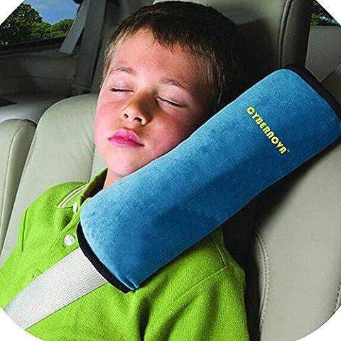 CYBERNOVA Auto Seat Gürtel kissen kindersitz polster gurtpolster für Kinder Baby Kopf Support (blau)
