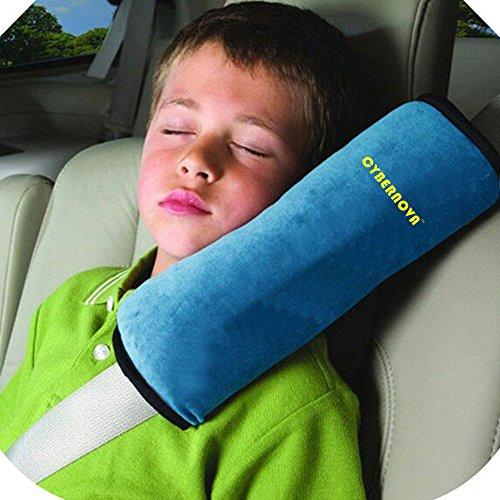 CYBERNOVA Auto Seat Gürtel kissen kindersitz polster gurtpolster für Kinder Baby Kopf Support (blau) (Auto Kissen Für Kinder)