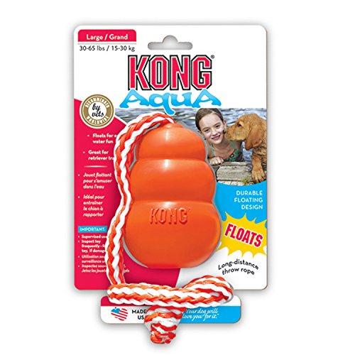 Kong Cool (L) 15030 Hunde-Spielzeug 10,5 cm orange mit Seil