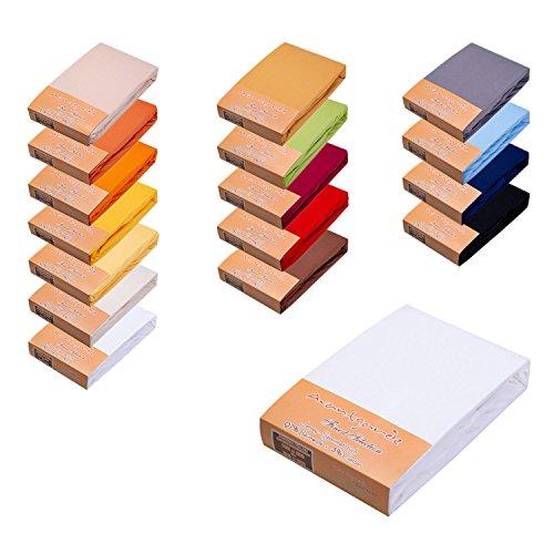 Finest Selection PREMIUM – SPANNBETTLAKEN/SPANNBETTTUCH / LAKEN F. WASSERBETT & BOXSPRINGBETT – 180×200 bis 200x220cm 3% ELASTAN 97% FEINSTE MAKO BAUMWOLLE