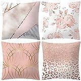 ABsoar Kissenbezuge Weihnachten Kissenhülle Dekokissen Throw Pillow Covers Für Autos Sofakissen Startseite Dekorative Weihnachten Sofa Bett Home Decor, Rose Gold Pink