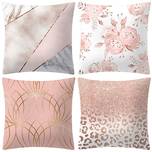ABsoar Kissenbezuge Weihnachten Kissenhülle Dekokissen Throw Pillow Covers Für Autos Sofakissen Startseite Dekorative Weihnachten Sofa Bett Home Decor, Rose Gold Pink -