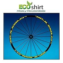 "Ecoshirt WZ-5W8Y-OH1X Stickers Rim Mavic Crosstrail Bike 26"" 27.5"" Am58 MTB Downhill, Yellow 27.5"""