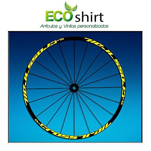 "Ecoshirt, WZ-5W8Y-OH1X, Pegatinas Stickers Llanta Rim Mavic Crosstrail Bike 26"" 27,5"" Am58 MTB Downhill, Amarillo 27.5"""